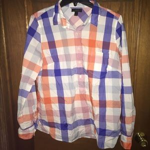 J. Few popover in over sized plaid